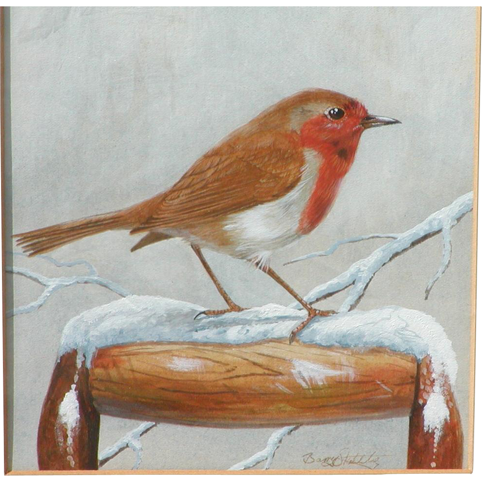Painting of a bird...Painting of a Robin...