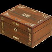 Sewing box...Victorian sewing box...