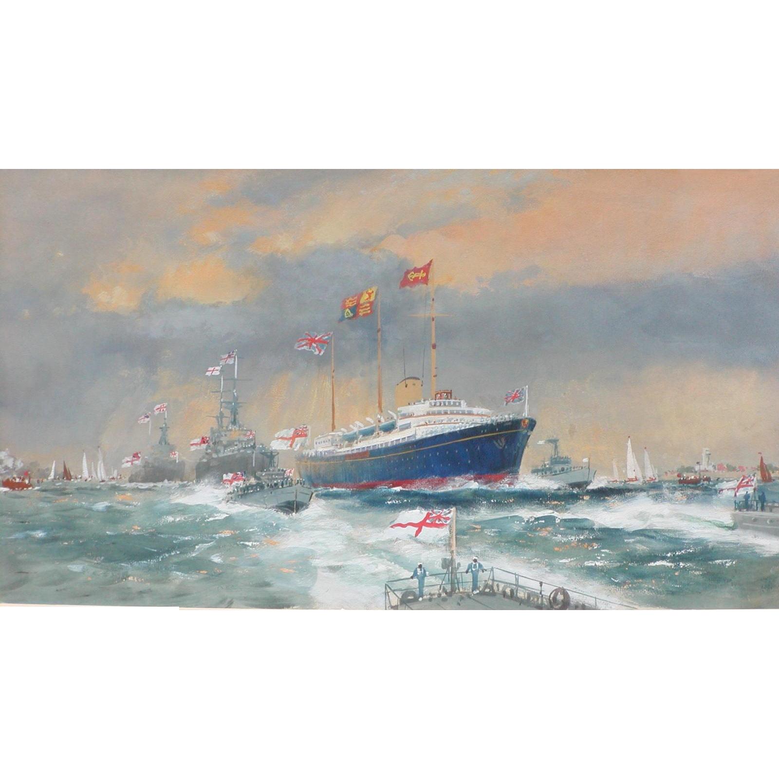 Naval ships painting...Britannia Naval Envoy painting...
