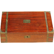 Humidor...Vintage humidor...Brass decorated Victorian box...