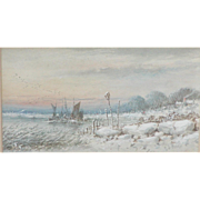 Painting of a snowy scene...