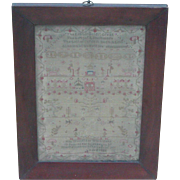 Sampler...Needlework sampler...1836 sampler