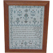 Sampler...Needlework sampler dated 1812...