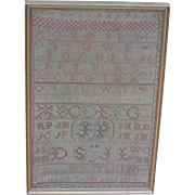 Sampler...Needlework sampler...Alphabet sampler