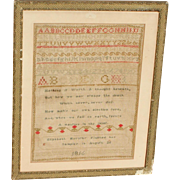 Sampler...Needlework sampler...1816 sampler...
