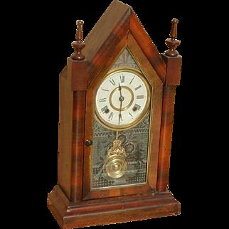 Clock...Steeple clock...Ansonia clock...