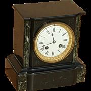 Clock...Slate & marble clock...Eight day clock...Mantel clock