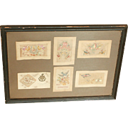 Embroidered WW1 Greetings Cards...Greetings Cards...