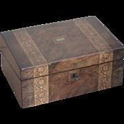 Writing box...lapdesk...Victorian writing box....