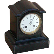 Clock...Vintage 8-day striking clock...Mantel clock...