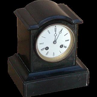 Clock...Vintage 8-day striking clock...Mantel clock...