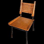 "Paul McCobb ""Shovel Chair""  Maple and Iron Mid Century Modern c1953"