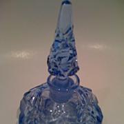 Blue Czechoslovakia Cut Glass Perfume