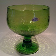 Blenko Crackle Glass Bowl