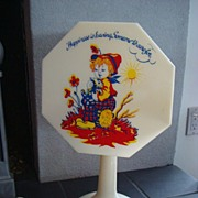 "Stylette Plastic Lamp ""Love Makes the Flowers Bloom"""