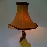 Pair of Ceramic Figural Lamps