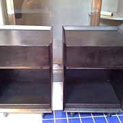 Pair of Black Nightstands by Morris of California