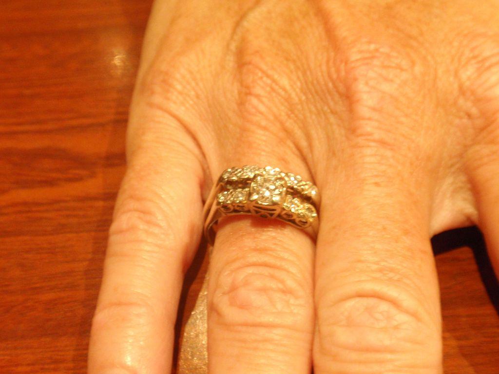 14k White Gold Two Piece Diamond Wedding Set w/appraisal