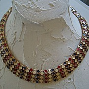 Vendome Poured Glass Enamel Necklace