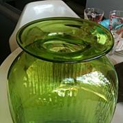 Blenko Emerald Green Jar Vase by Myers