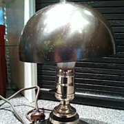 Metal Deco Lamp Machine Age Deco