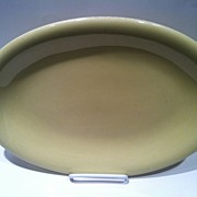 Russel Wright Sterling Dinner Ware Straw Yellow Dinner Platter