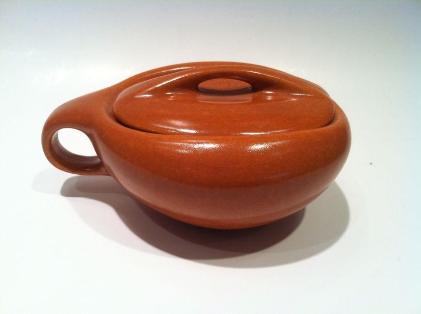 Raymor Roseville 1950's Sugar Bowl Terra Cotta