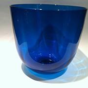 Gorgeous Blenko Blue Bowl