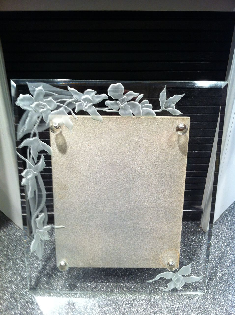 Dorothy Thorpe Etched Glass Picture Frame