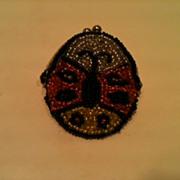 Precious Beaded Ladybug Coin Purse 1960's