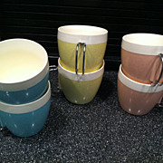 Set of Six Thermal Cups Made in USA