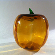 Blenko Blown Glass Pumpkin