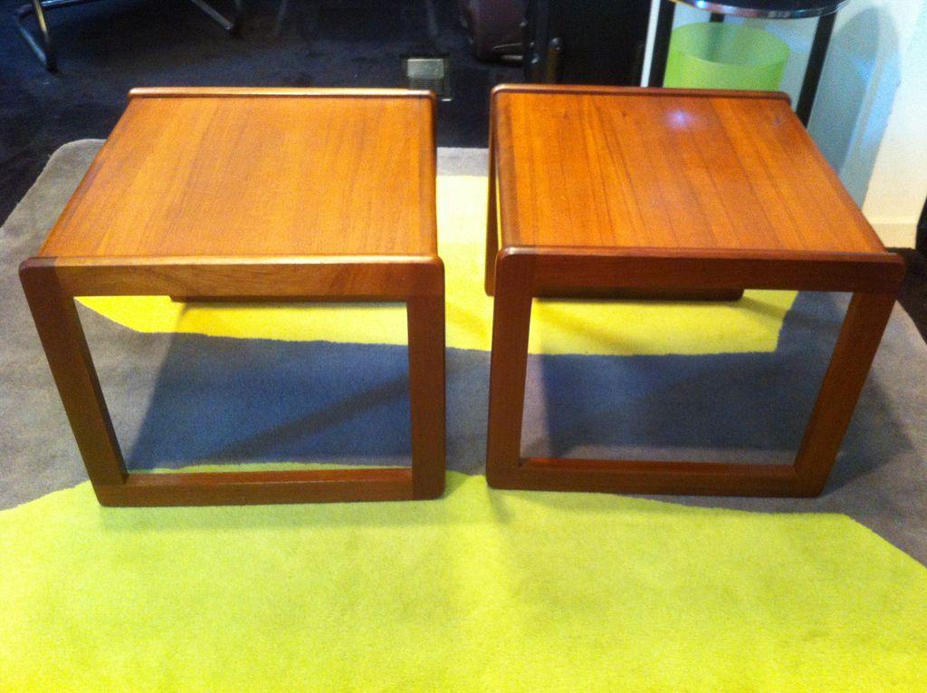 Pair of Teak Mid Century End Tables