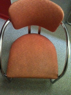 2 Chrome and Vinyl Chairs from the 40's/50's