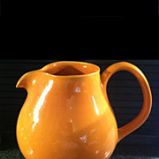 Cantaloupe Russel Wright Iroquois Redesigned Water Pitcher