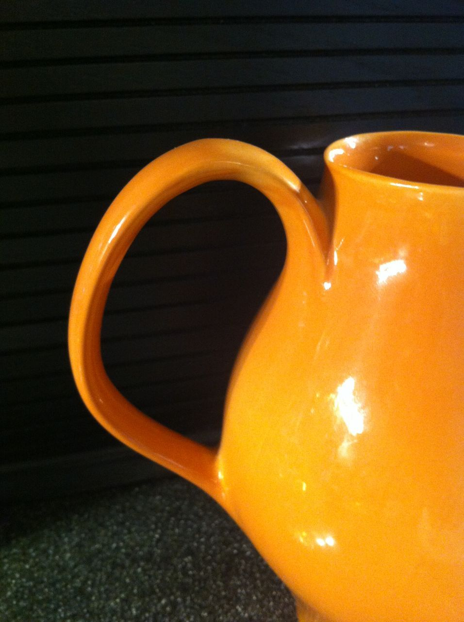 Cantaloupe russel wright iroquois redesigned water pitcher from eraofmyways on ruby lane - Russel wright pitcher ...