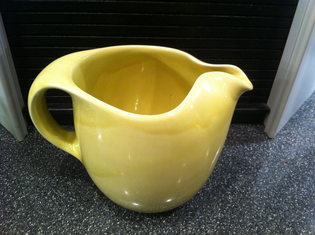 Sterling straw yellow original water pitcher by russel wright from eraofmyways on ruby lane - Russel wright pitcher ...