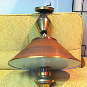 1960's Hanging Copper Light Fixture