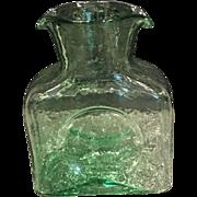 Green Blenko Individual Water Pitcher