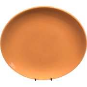 Cantaloupe Iroquois Dinner Plate by Russel Wright