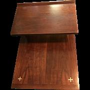 Paul McCobb Walnut Step End Table