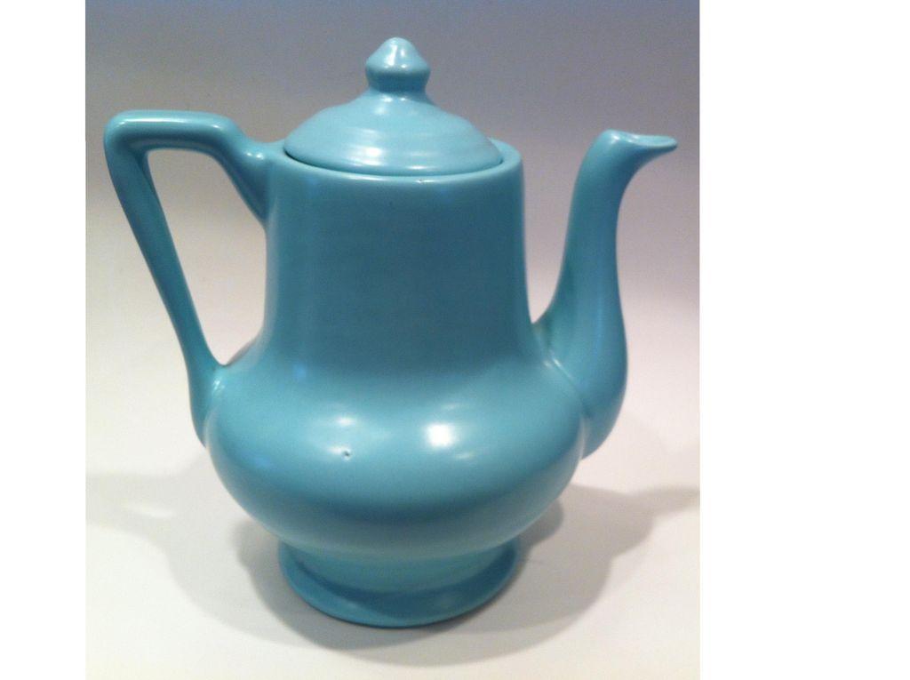 Aqua Metlox Mission Bell Teapot