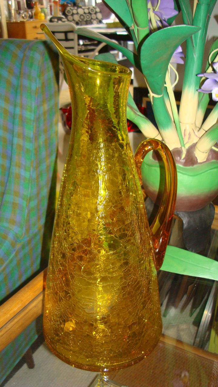 Blenko anderson 976 pitcher c1962 from eraofmyways on for Anderson art glass
