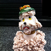 1950's Pink Spaghetti Poodle with Fancy Hat