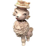 Pink Spaghetti Poodle with Flowered Hat