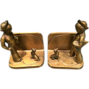 Pair of Brass Frankart Bookends