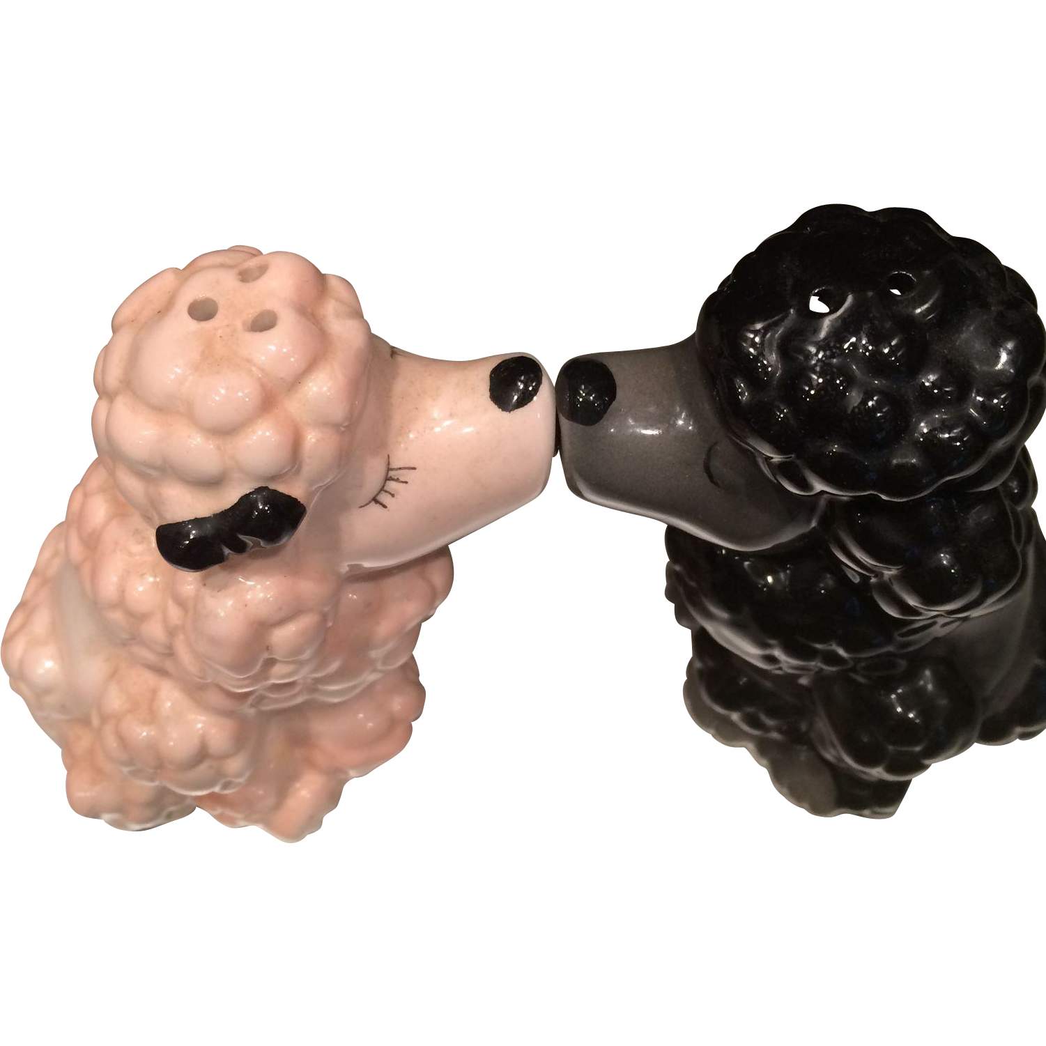 vintage kissing poodles salt and pepper shaker from eraofmyways on  - vintage kissing poodles salt and pepper shaker