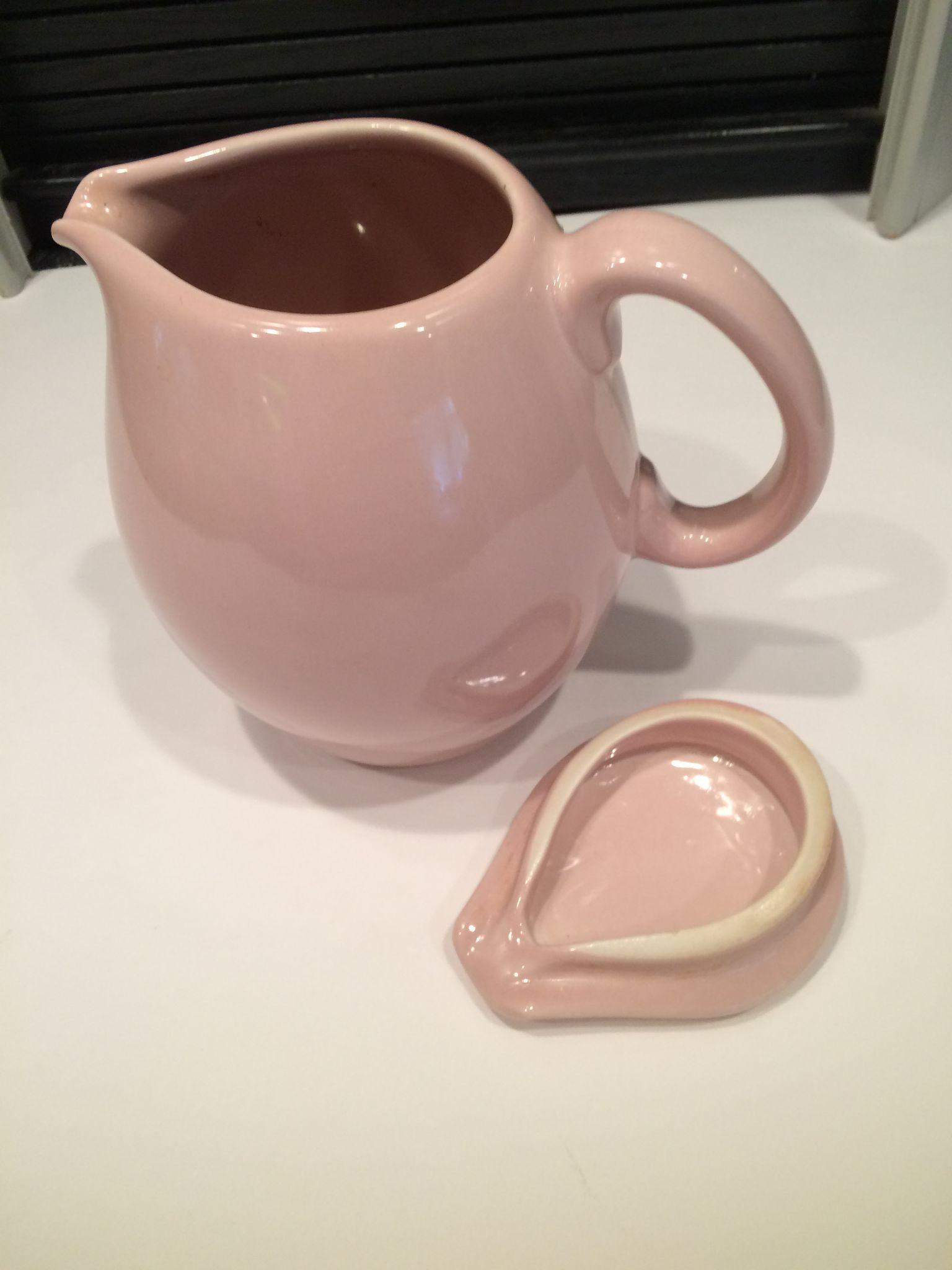 Pink iroquois 1 5 quart covered pitcher by russel wright from eraofmyways on ruby lane - Russel wright pitcher ...