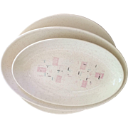 Vintage Tickled Pink Dinnerware by Vernon Kilns