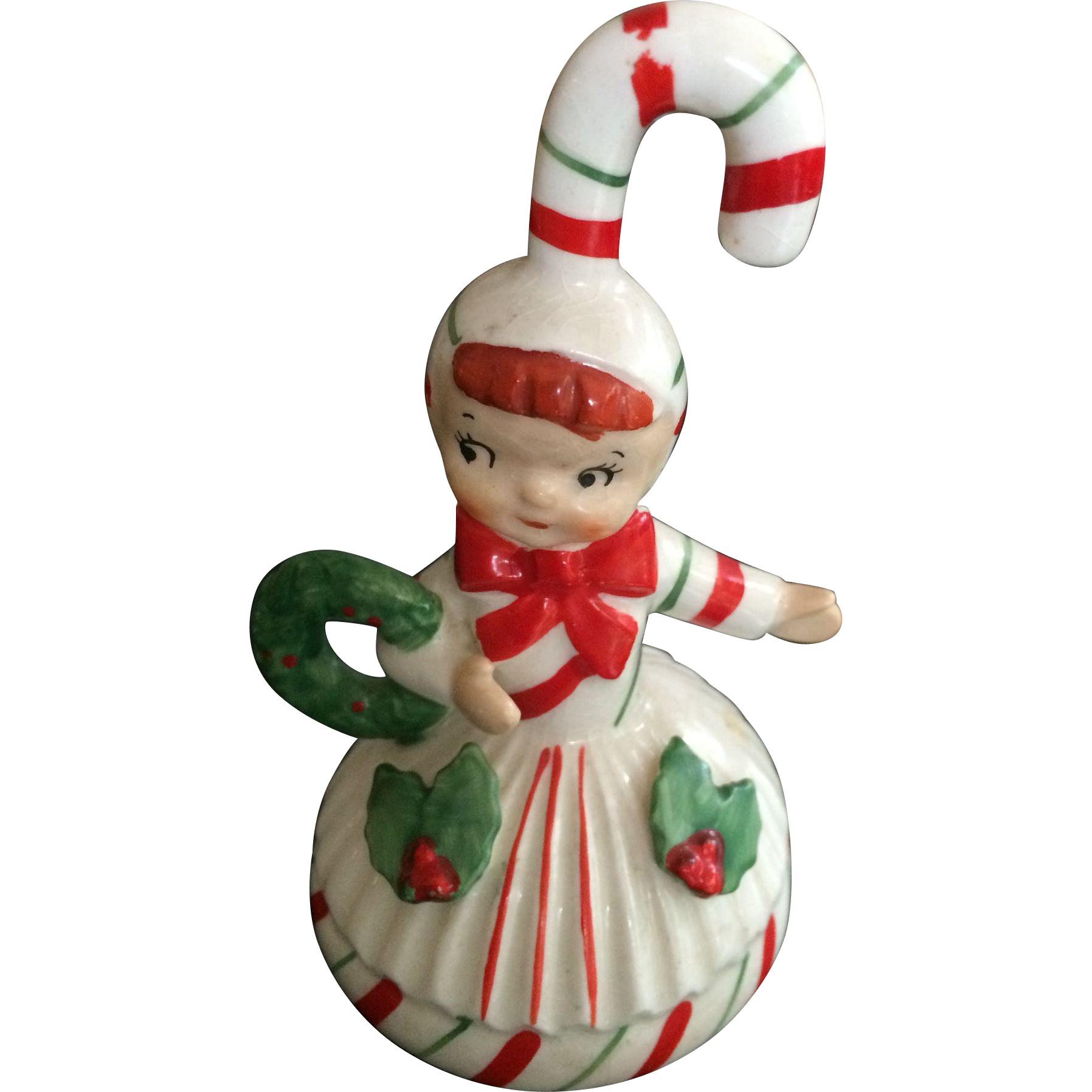 Lefton christmas ornament and bell from rubylane sold on ruby lane